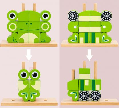 bloc en bois création animale