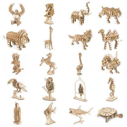 Maquettes animaux en bois