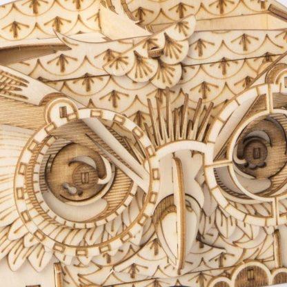 Maquette en bois Boite à crayons hiboux