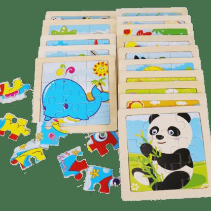 Puzzle d animaux en bois