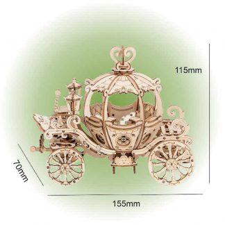 Maquette chariot citrouille en bois