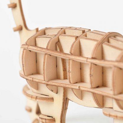 Maquette chat en bois