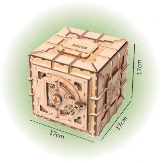 Maquette coffre-fort en bois