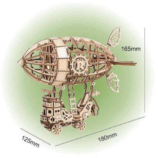 Maquette dirigeable en bois