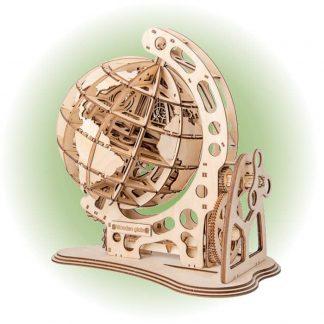Maquette globe terrestre en bois