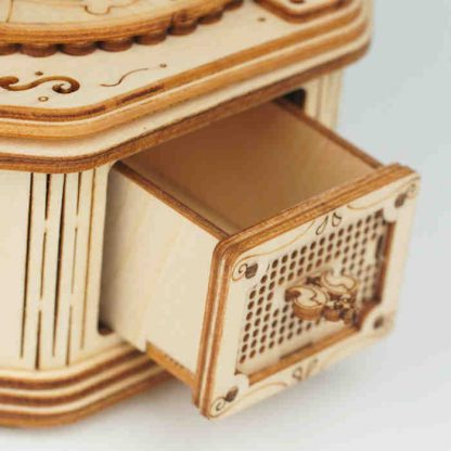 Maquette gramographe en bois