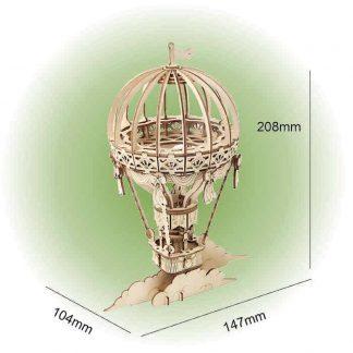 Maquette montgolfière en bois