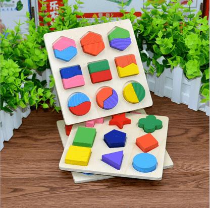 Puzzle géométrique en bois