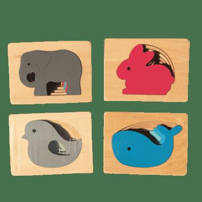 Puzzle superposition d animaux en bois2