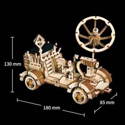 Maquette 3D bois Robot mécanique propulsé par énergie solaire Apollo Lunar Rover