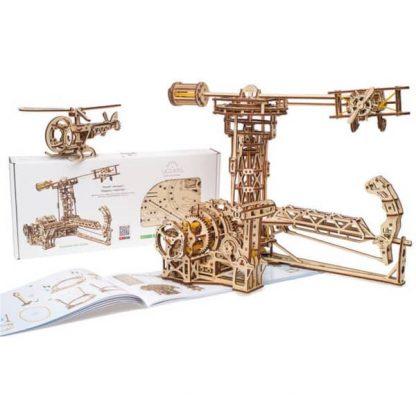 Maquette 3D en bois manège à avions 4
