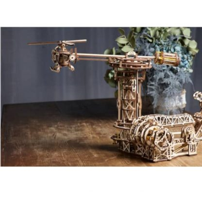Maquette 3D en bois manège à avions 6