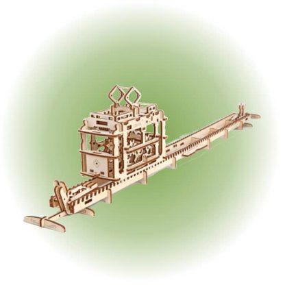 Maquette 3D tramway en bois