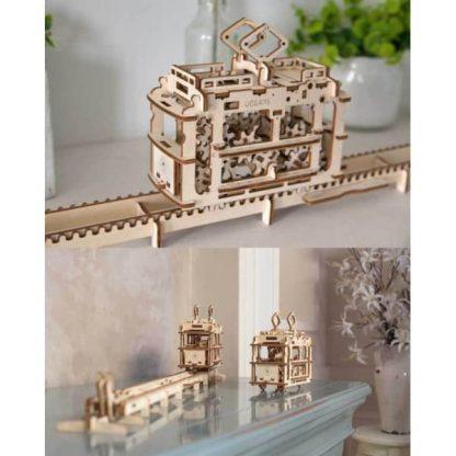 Maquette 3D tramway en bois 5