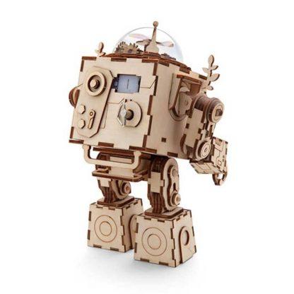 Maquette 3D en bois boite à musique robot 2