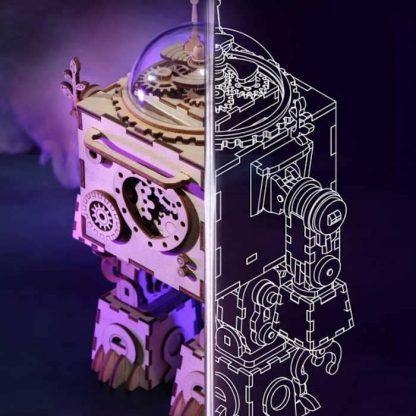 Maquette 3D en bois boite à musique robot 4