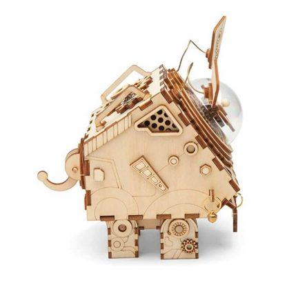 Maquette 3D en bois boite musique robot 3