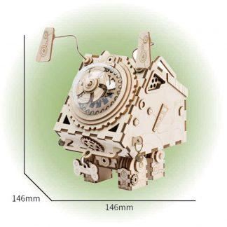 Maquette 3D en bois boite musique robot