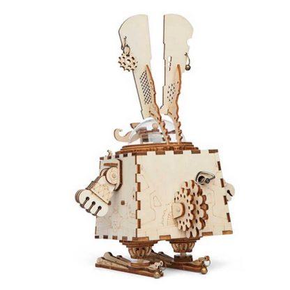 maquette 3D en bois boite à musique Lapin 2