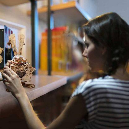 maquette 3D en bois boite à musique Lapin 4