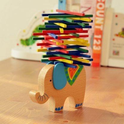 Jeu equilibre animaux en bois Éléphant 2