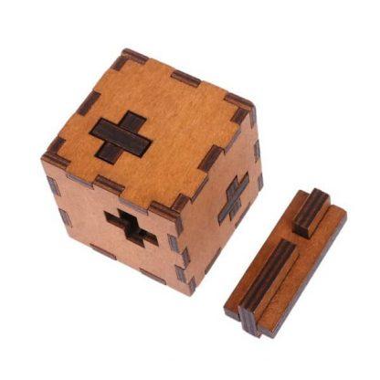 Casse-tête en bois de type serrure 3